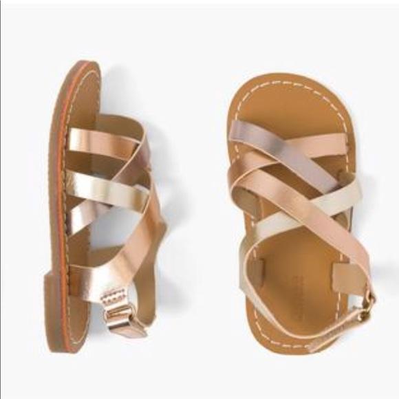 Gymboree Little Girls Rose Gold Sandals